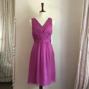 NWT Banana Republic Geranium Pink Silk Dress